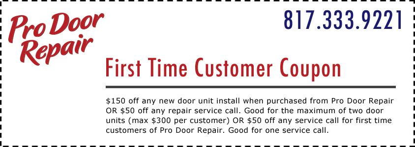Pro Door Repair Coupon Fort Worth TX