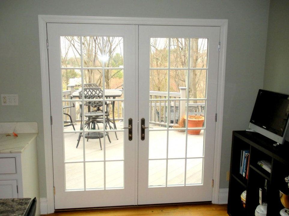 Fiberglass Hinged Patio Doors : Plastpro door double wide steel exterior doors two
